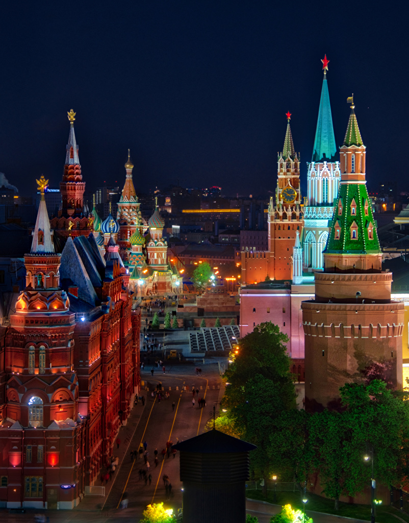Обои russia, ночь, kremlin, россия, кремль, moscow. Города foto 11