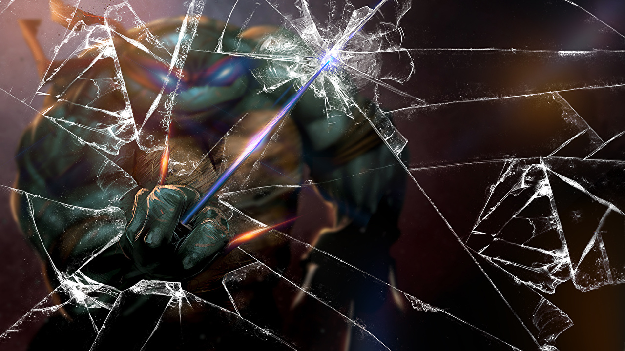 壁紙 ティーンエイジ ミュータント ニンジャ タートルズ ウォリアーズ Ninja Turtles Broken Glass 忍者 漫画 ファンタジー ダウンロード 写真