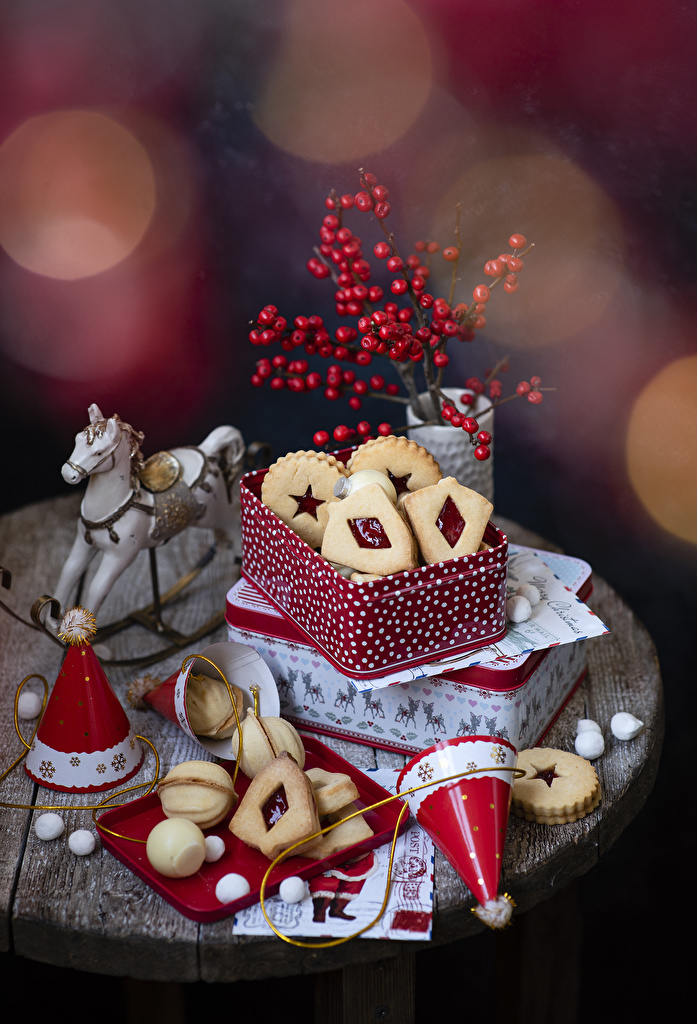 Images Christmas Box Food Cookies Design  for Mobile phone New year
