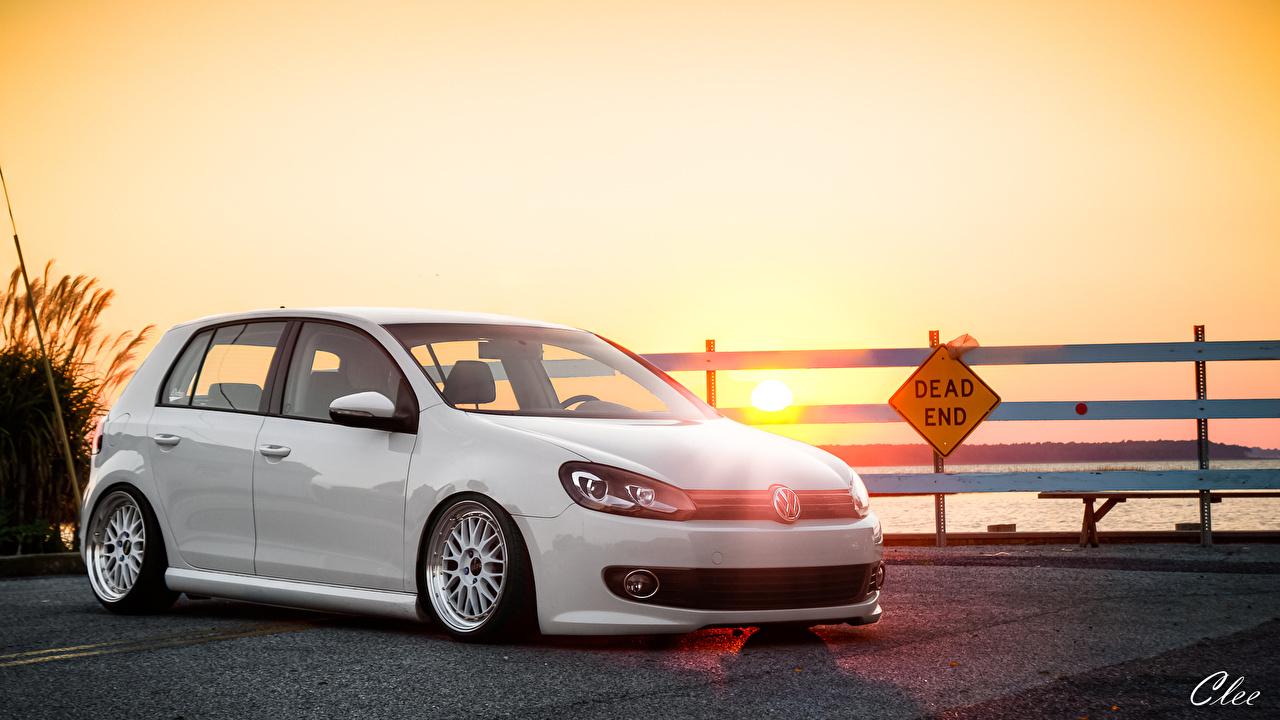 Fondos De Pantalla Volkswagen Amaneceres Y Atardeceres Golf