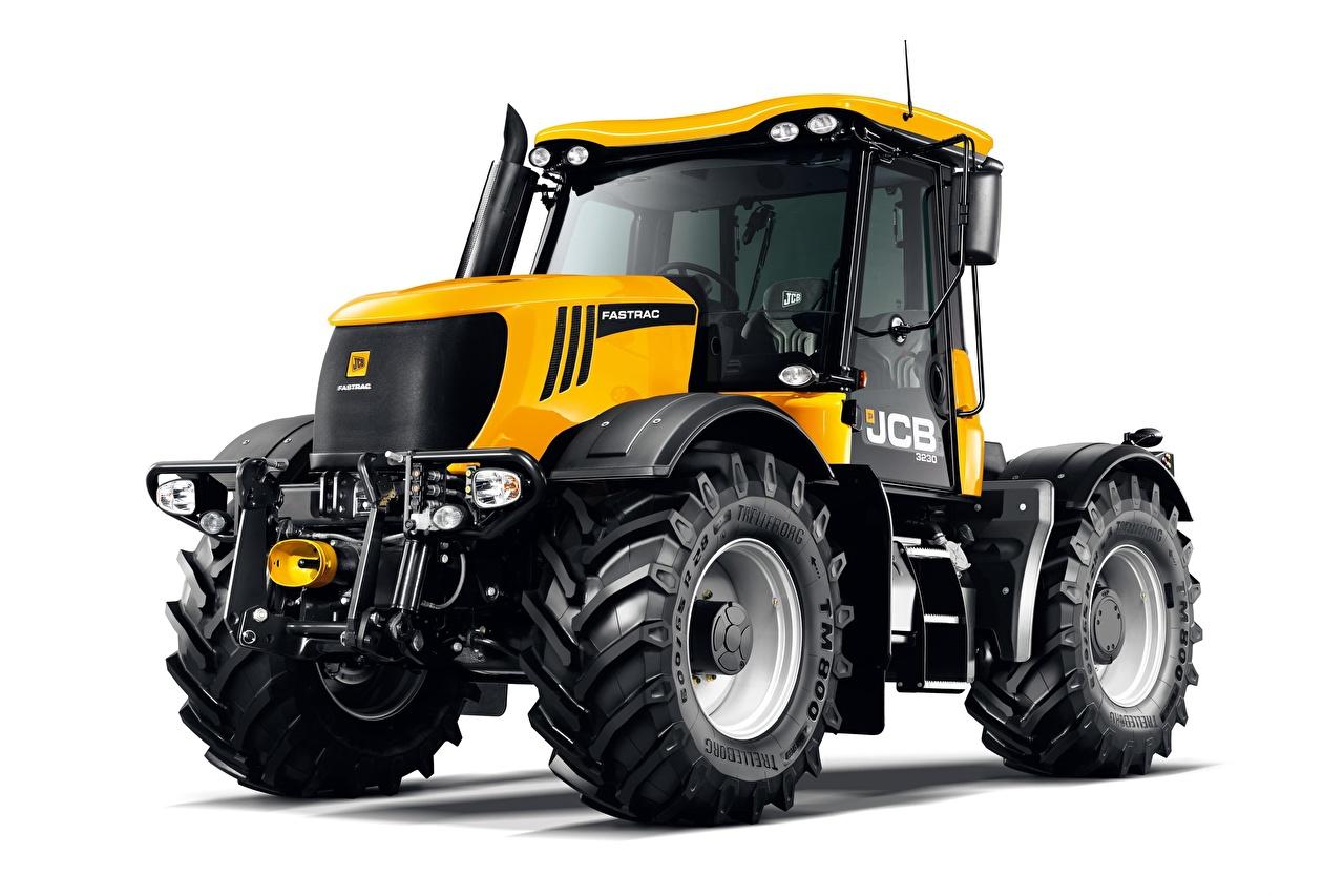 Bilder von Traktor JCB Fastrac 3230 Gelb Weißer hintergrund traktoren