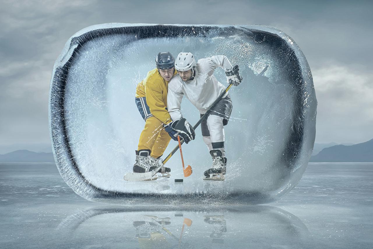 Picture Helmet Ice Two Sport Hockey Uniform 2