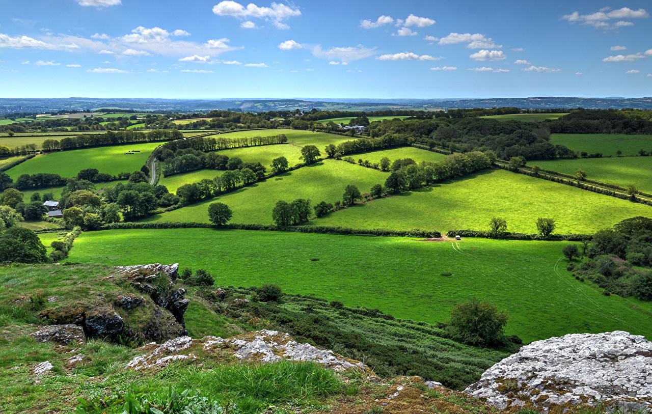 Pictures England Brentor, West Devon Nature Roads Fields
