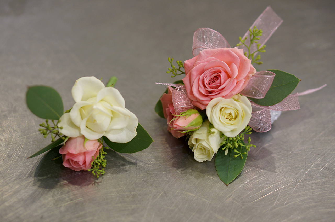 Ramos Rosas Dos flor, un ramo, rosa, 2 Flores