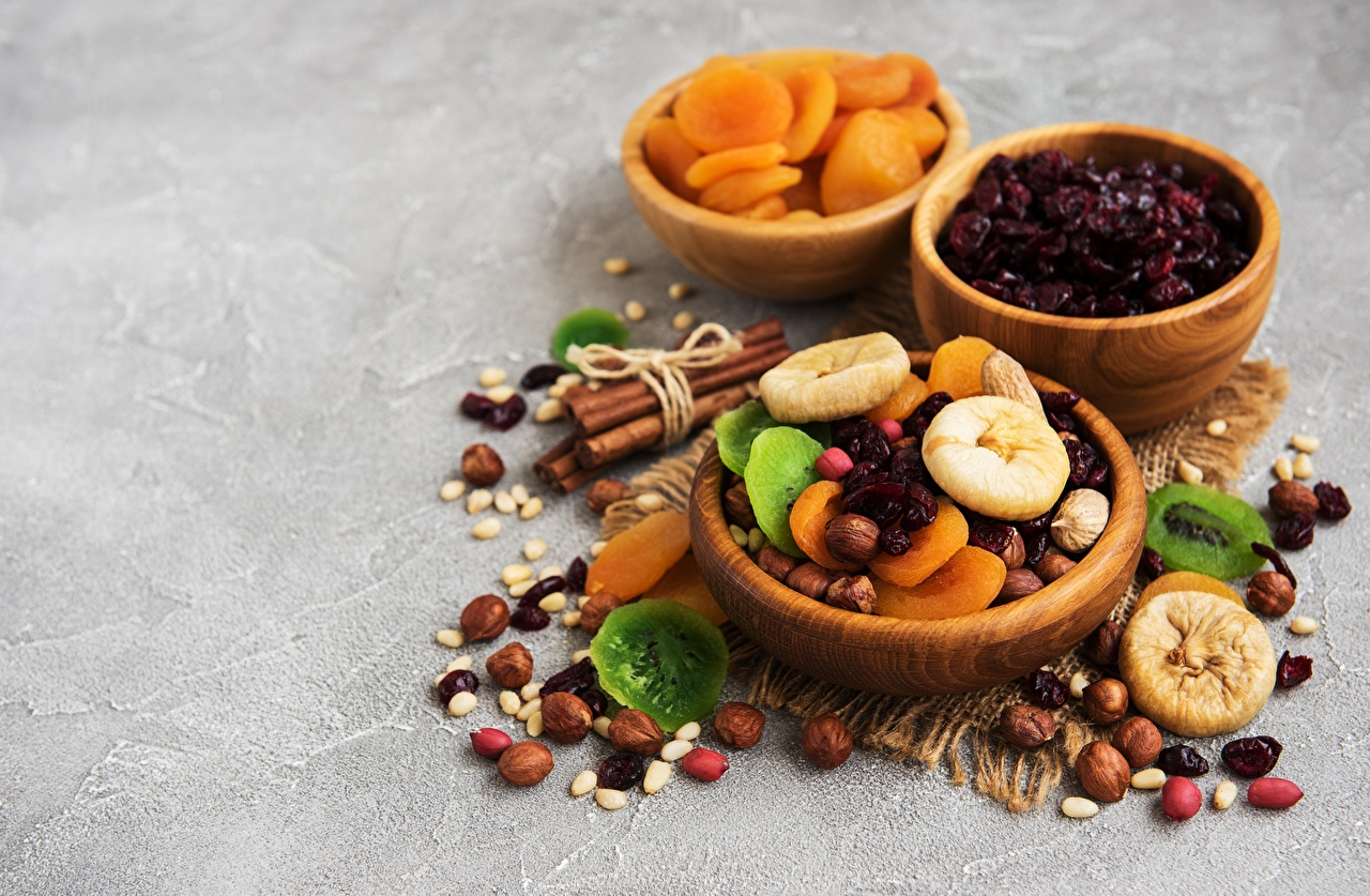 Pictures Dried apricot Bowl Food Dried fruit Nuts