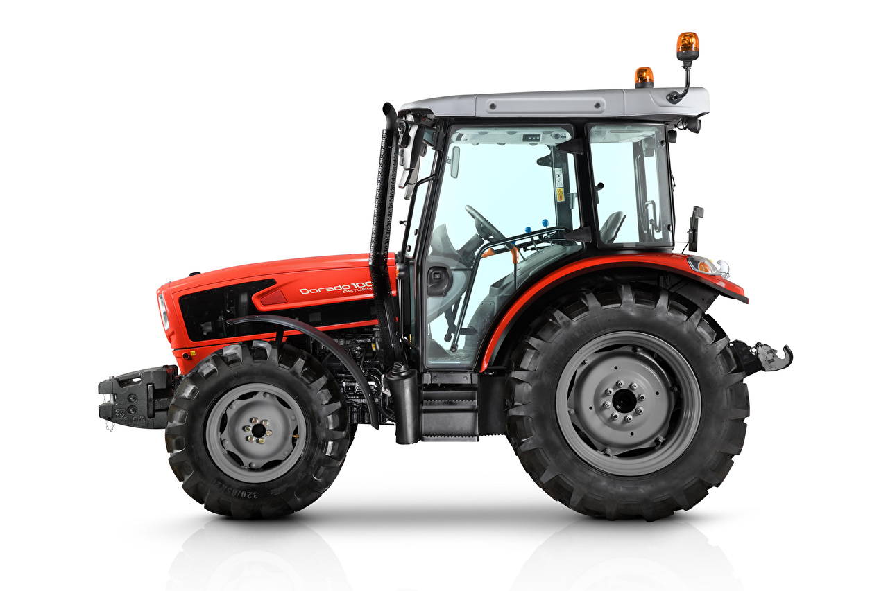 Pictures tractors SAME Dorado 100 Natural, 2018 Red Side White background Tractor