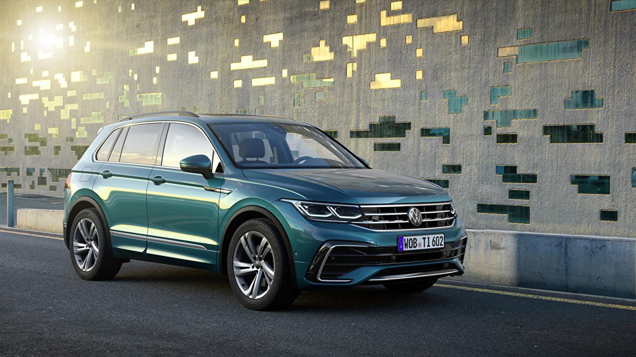 Picture Volkswagen 2020 Tiguan R-Line Worldwide Green Metallic automobile Cars auto