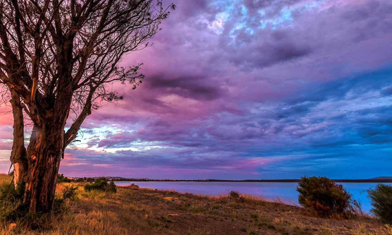Bilder Australien Port Lincoln Natur Himmel Gras Flusse Wolke Fluss