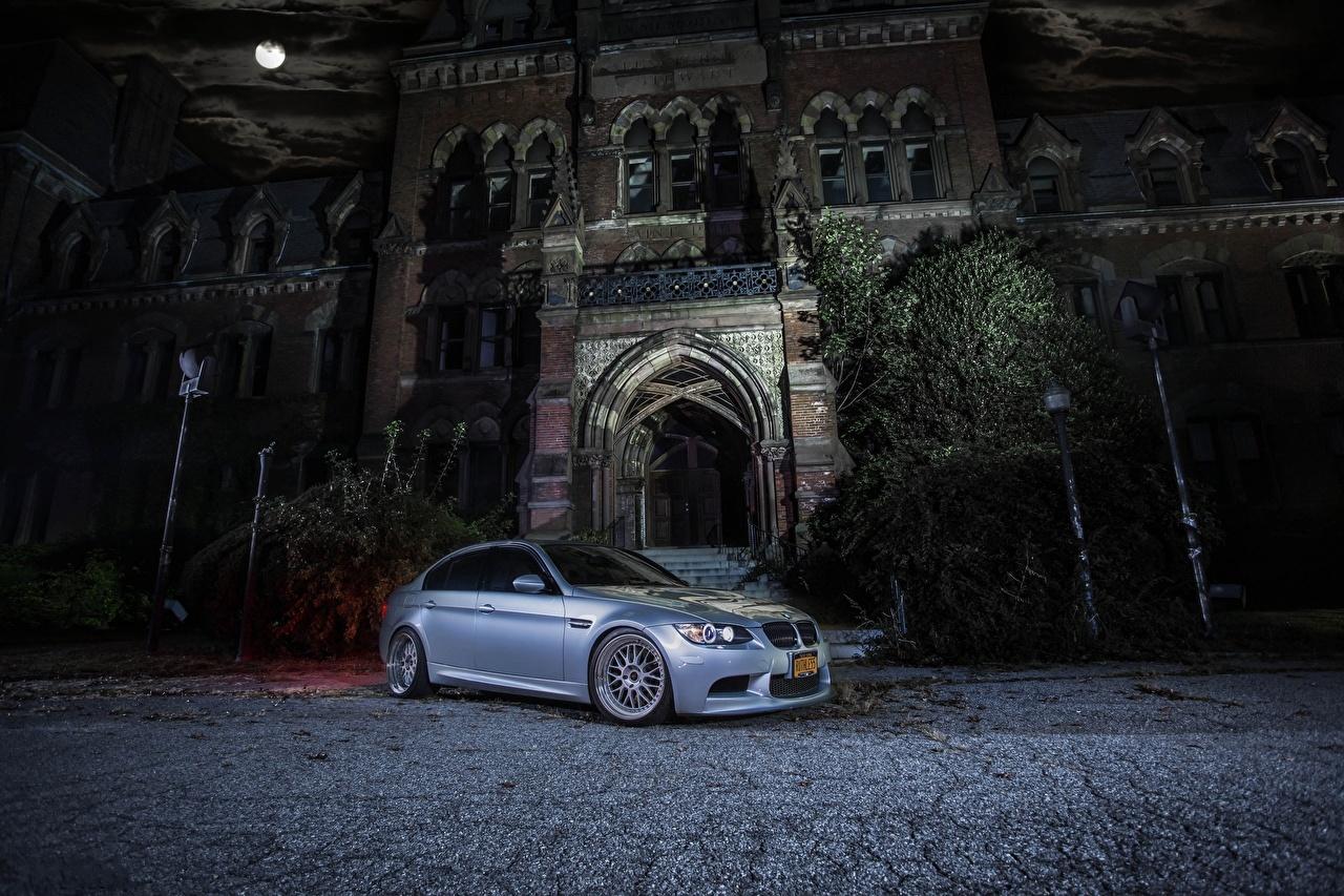 Picture BMW m3 e90 Cars Night auto night time automobile