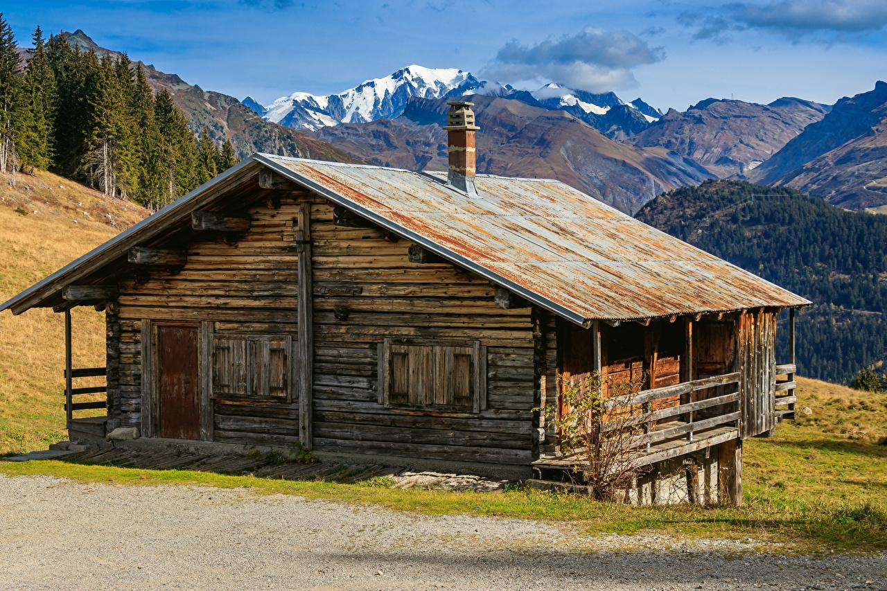 Bilder von Alpen Frankreich Areches Beaufort Natur Gebirge alte Gebäude Berg Alt alter Haus