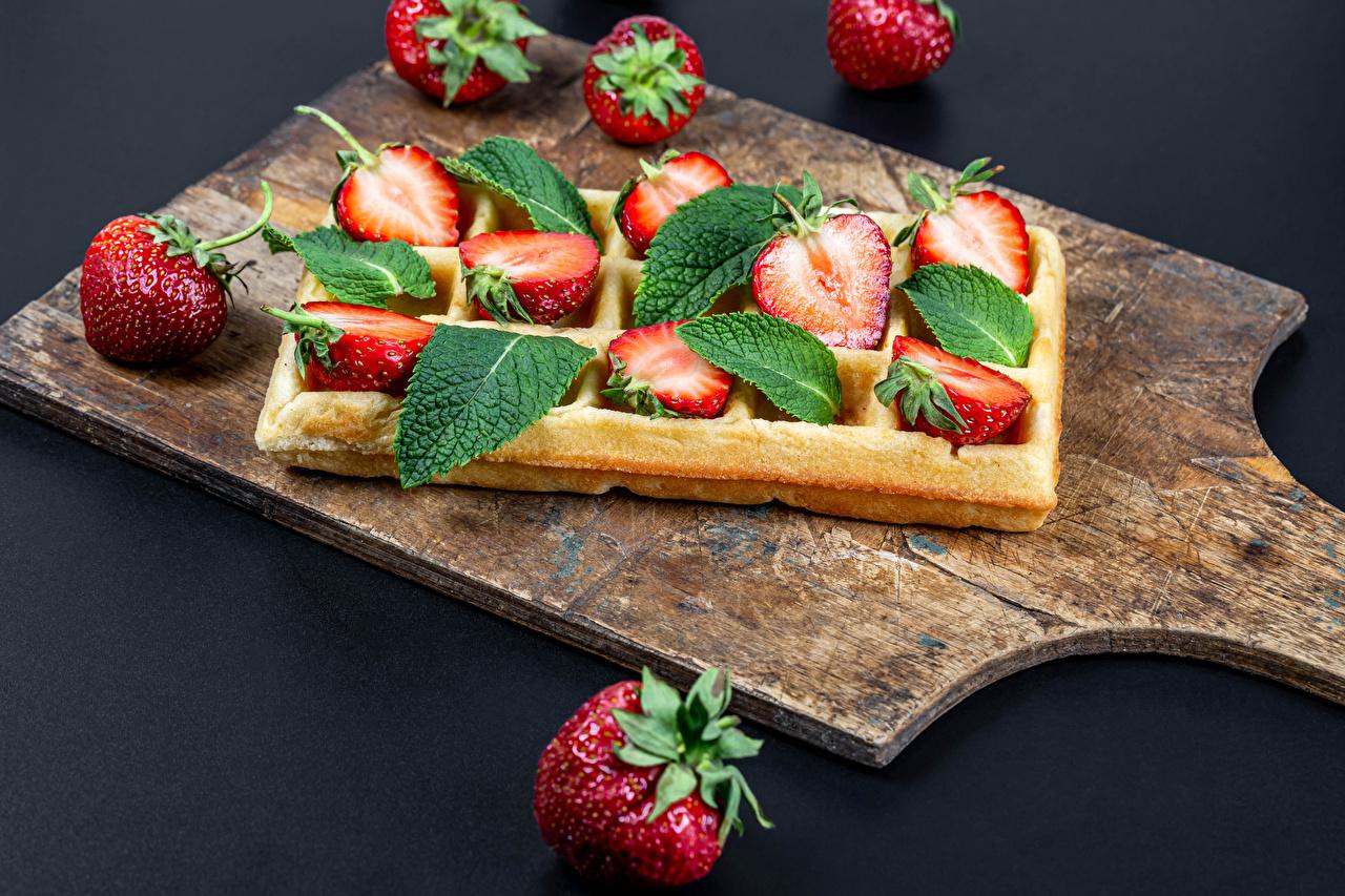 Image waffle Strawberry Food Cutting board Waffles