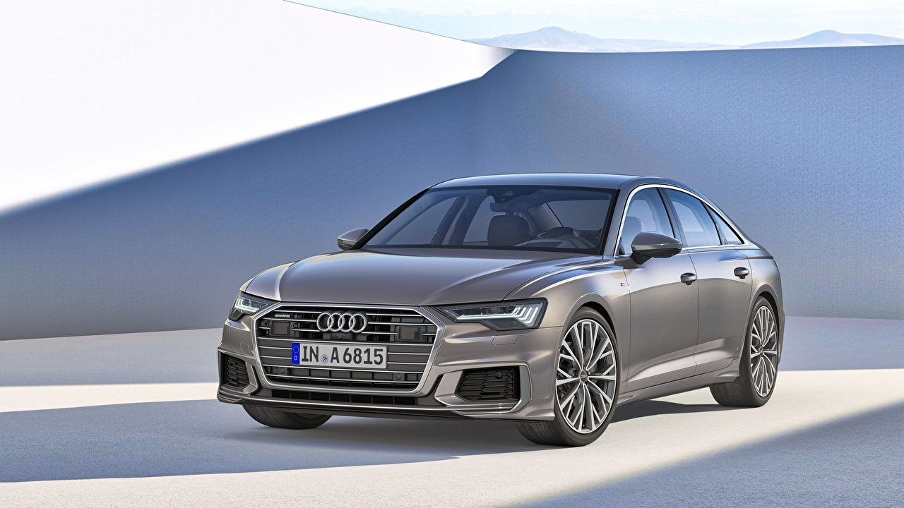 Bilder Audi A6 50 TDI quattro S line Worldwide graue Autos Metallisch Grau graues auto automobil