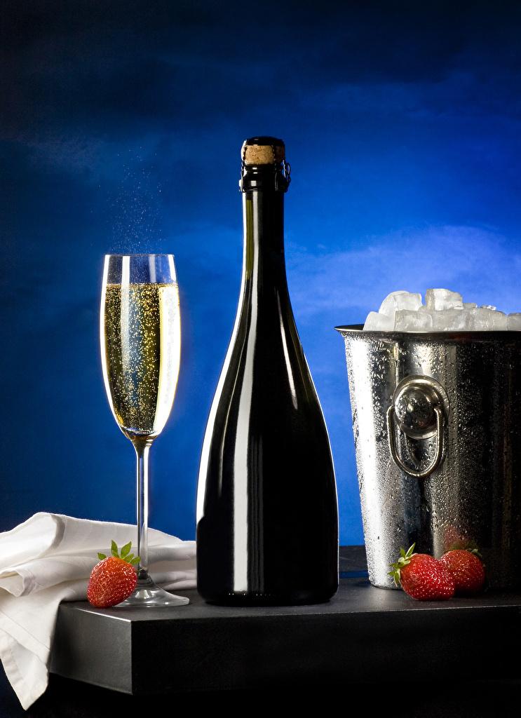 Image Ice Bucket Sparkling wine Strawberry Food Bottle Stemware  for Mobile phone Champagne bottles