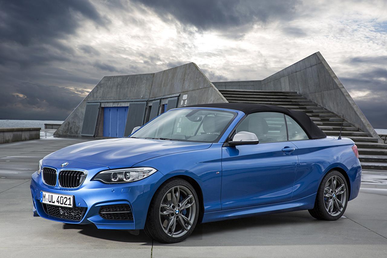 Picture BMW 2014 M235i F23 convertible Light Blue auto Metallic Cars automobile