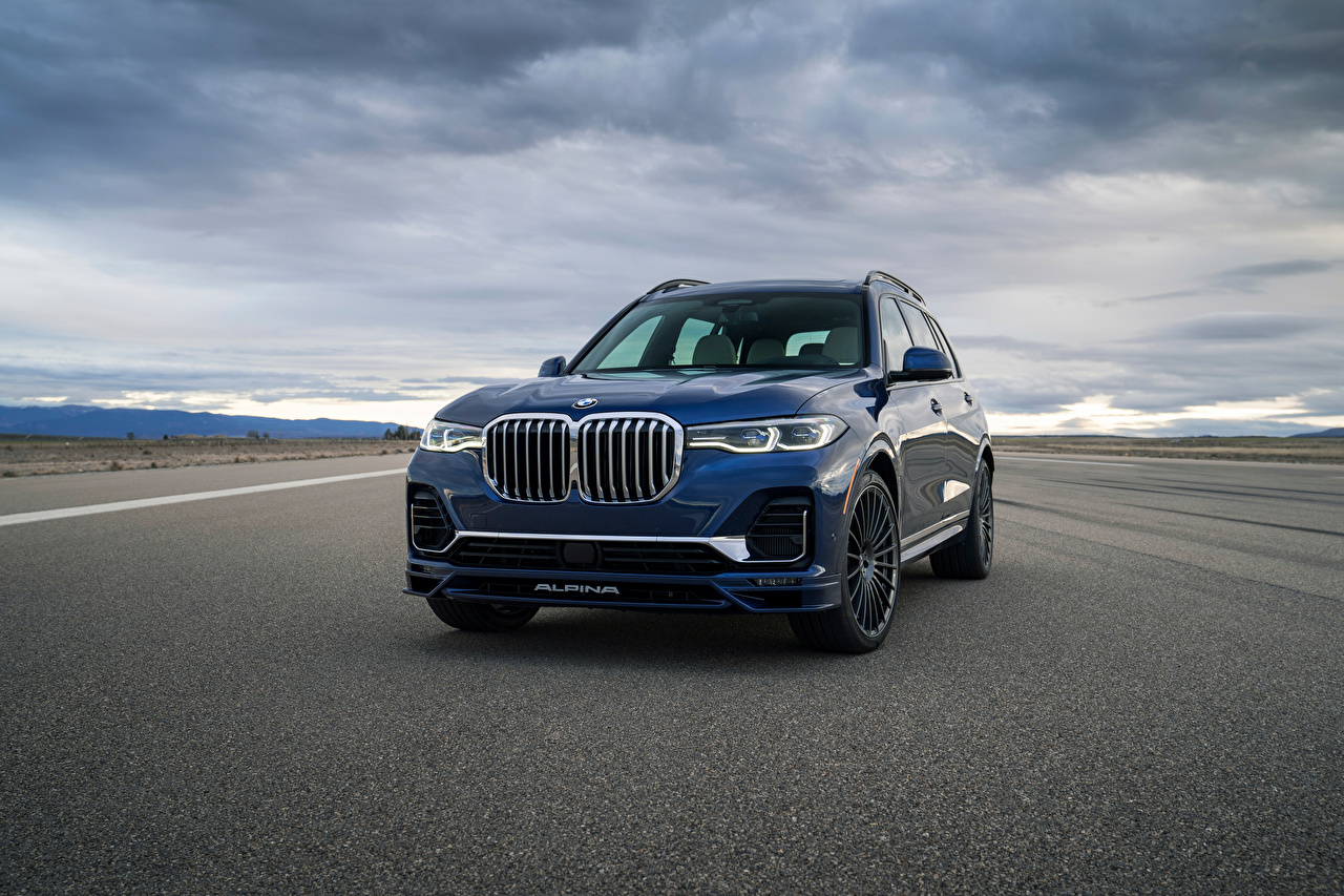Images BMW CUV Alpina XB7, North America, G07, 2020 Blue Asphalt Metallic automobile Crossover Cars auto