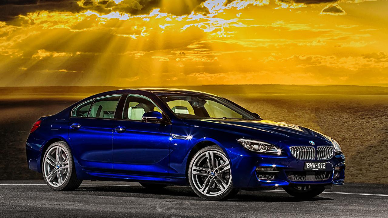 Desktop Wallpapers BMW 2015 6-Series 650i M6 Gran Coupe Sport AU-spec F06 Blue automobile Cars auto