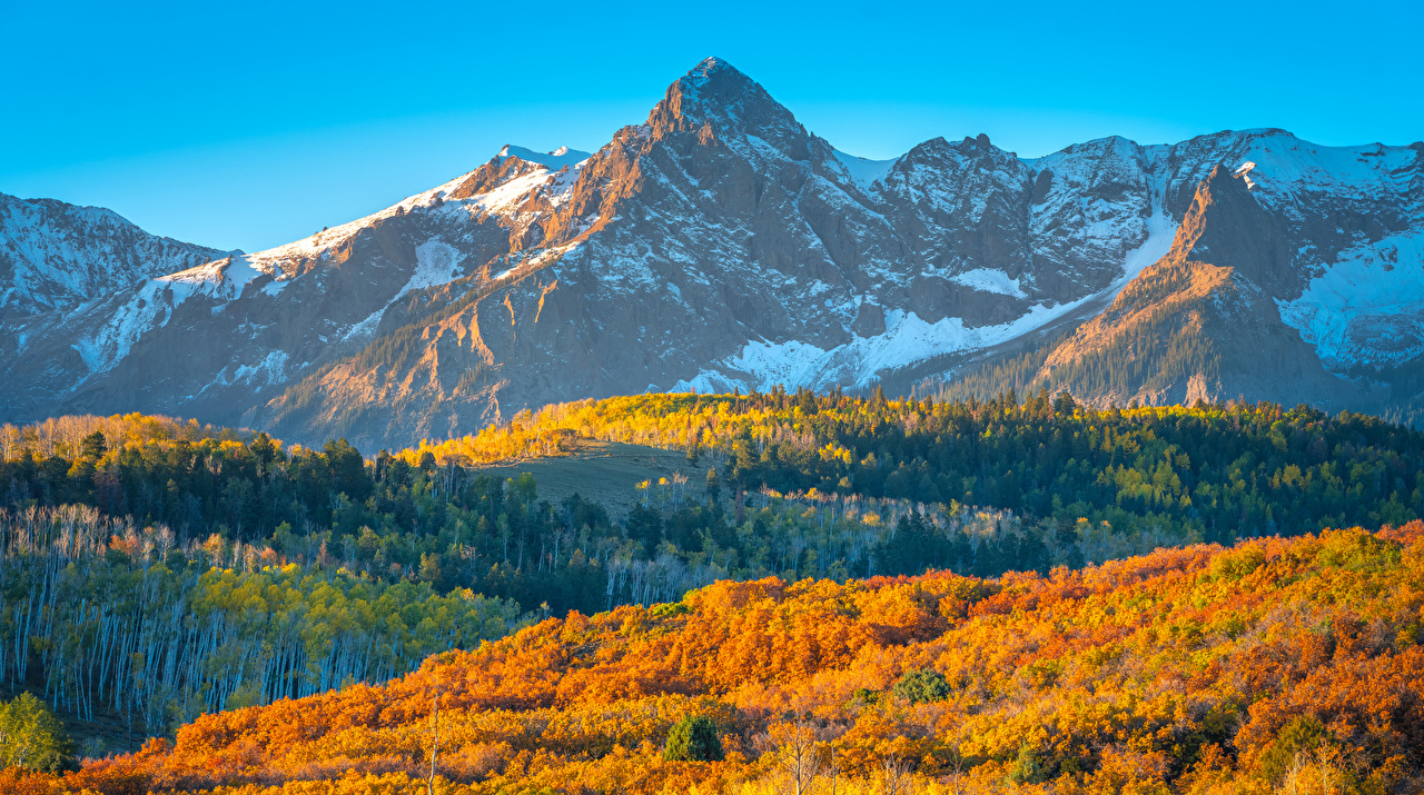 Bilder Vereinigte Staaten Colorado Berg Natur Herbst Landschaftsfotografie USA Gebirge