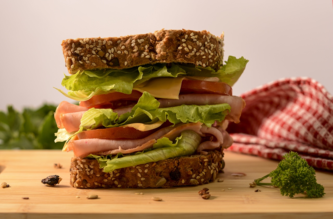 Pictures Sandwich Ham Cheese Food Closeup