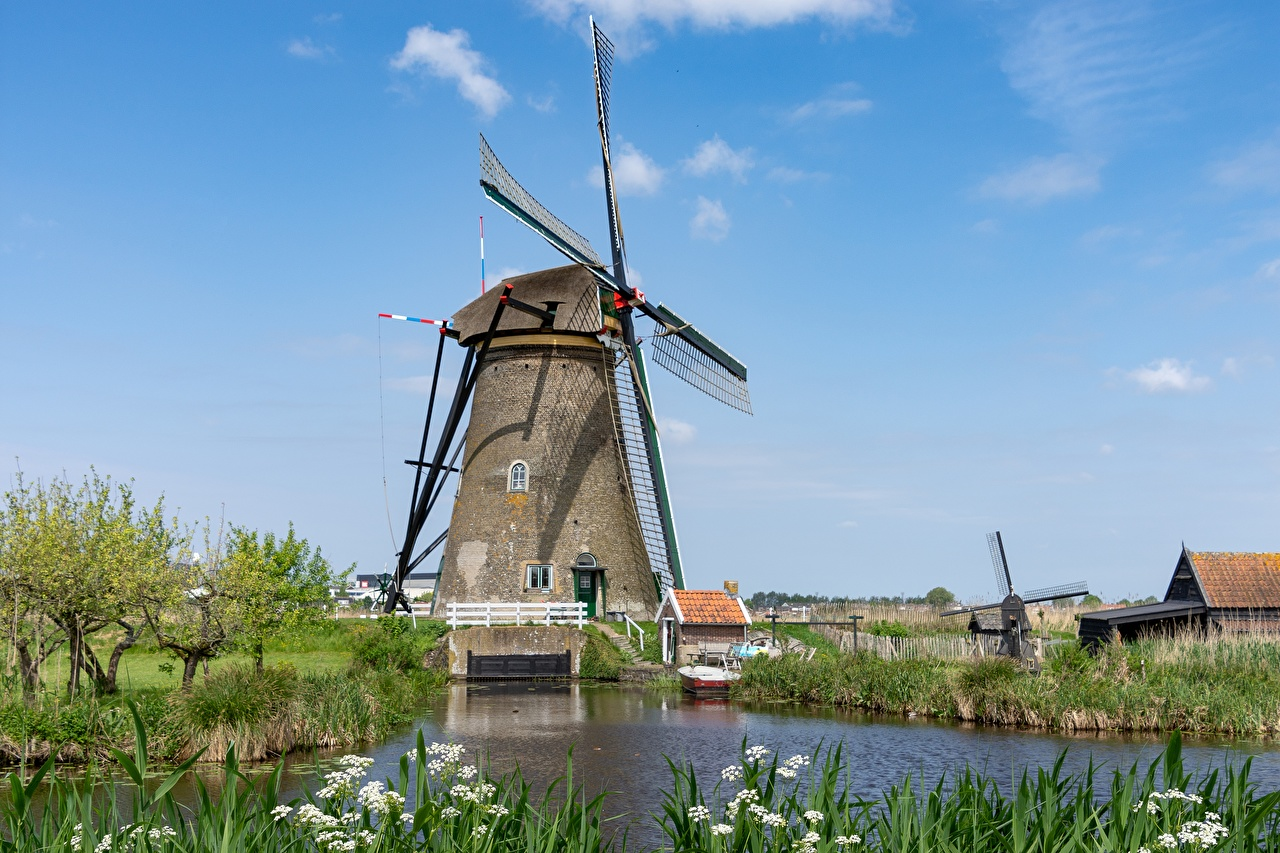 Desktop Wallpapers Netherlands windmill Cities Mill windmills