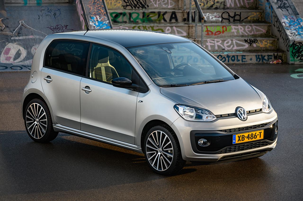 Wallpaper 2018-19 Volkswagen up! R-Line Worldwide Silver color automobile auto Cars