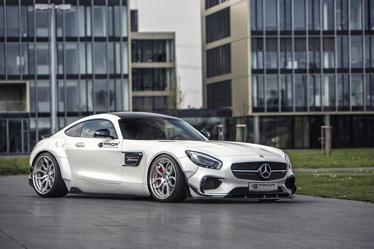 Fotos von Mercedes-Benz AMG Prior-Design C190 PD800GT GT-Class Coupe Weiß Autos auto automobil