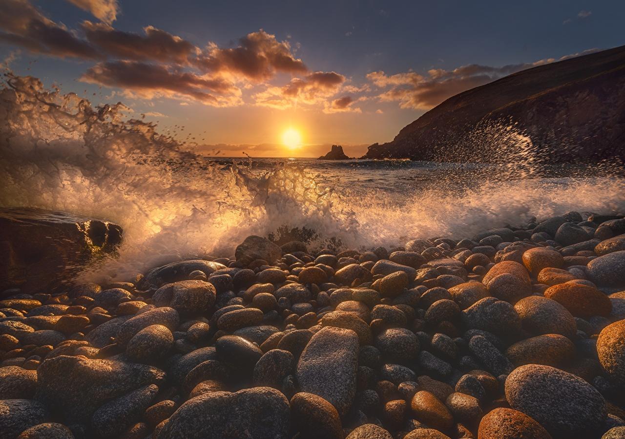 Bilder von Meer Natur Sonne Wasserwelle spritzwasser Morgendämmerung und Sonnenuntergang Steine Wasser spritzt Sonnenaufgänge und Sonnenuntergänge Stein