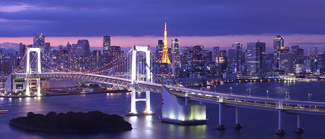 Купить картину Мост в Токио на холсте - заказать №psh_21900579 | 549x1280