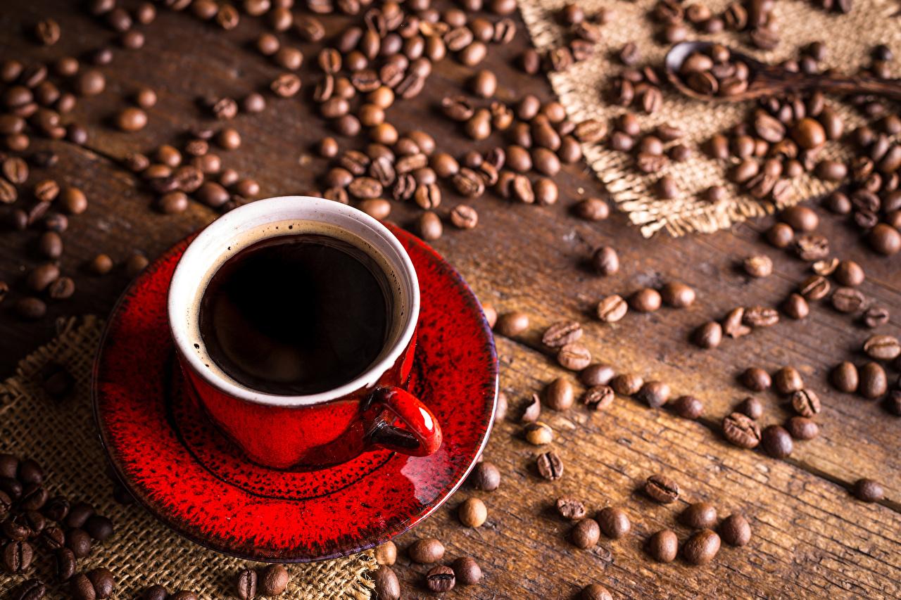 Bilder von Kaffee Getreide Tasse Lebensmittel Bretter