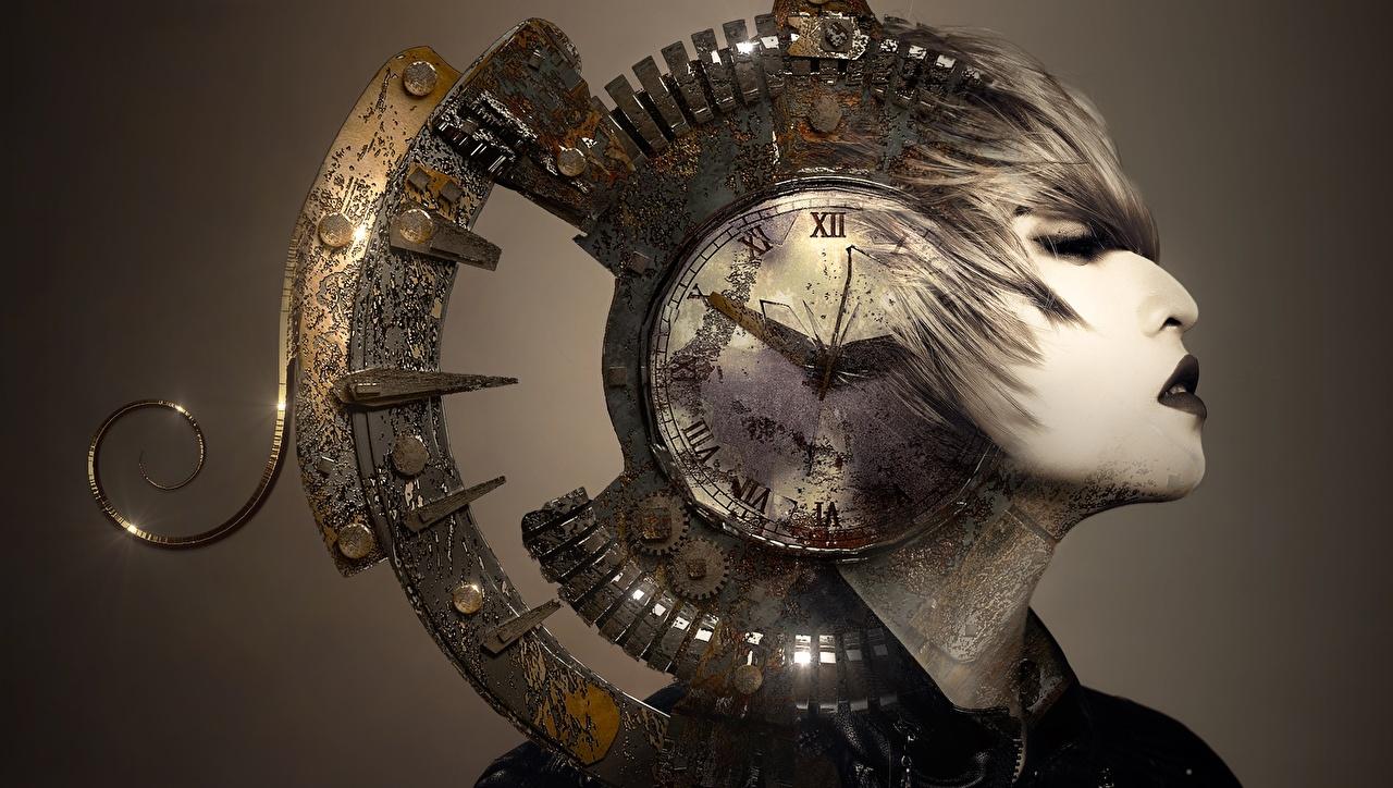 Hintergrundbilder Uhr Fantasy Zifferblatt Kopf
