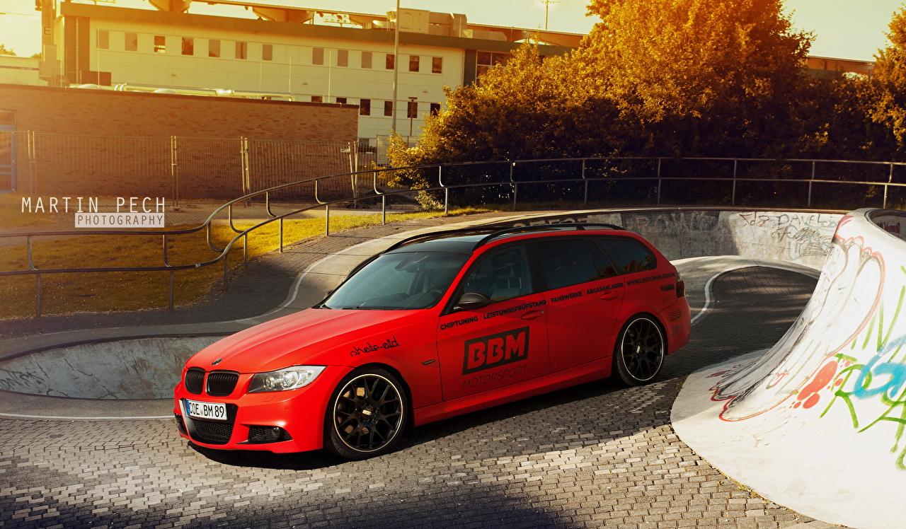 Image BMW 2013 330d E91 Red Cars auto automobile