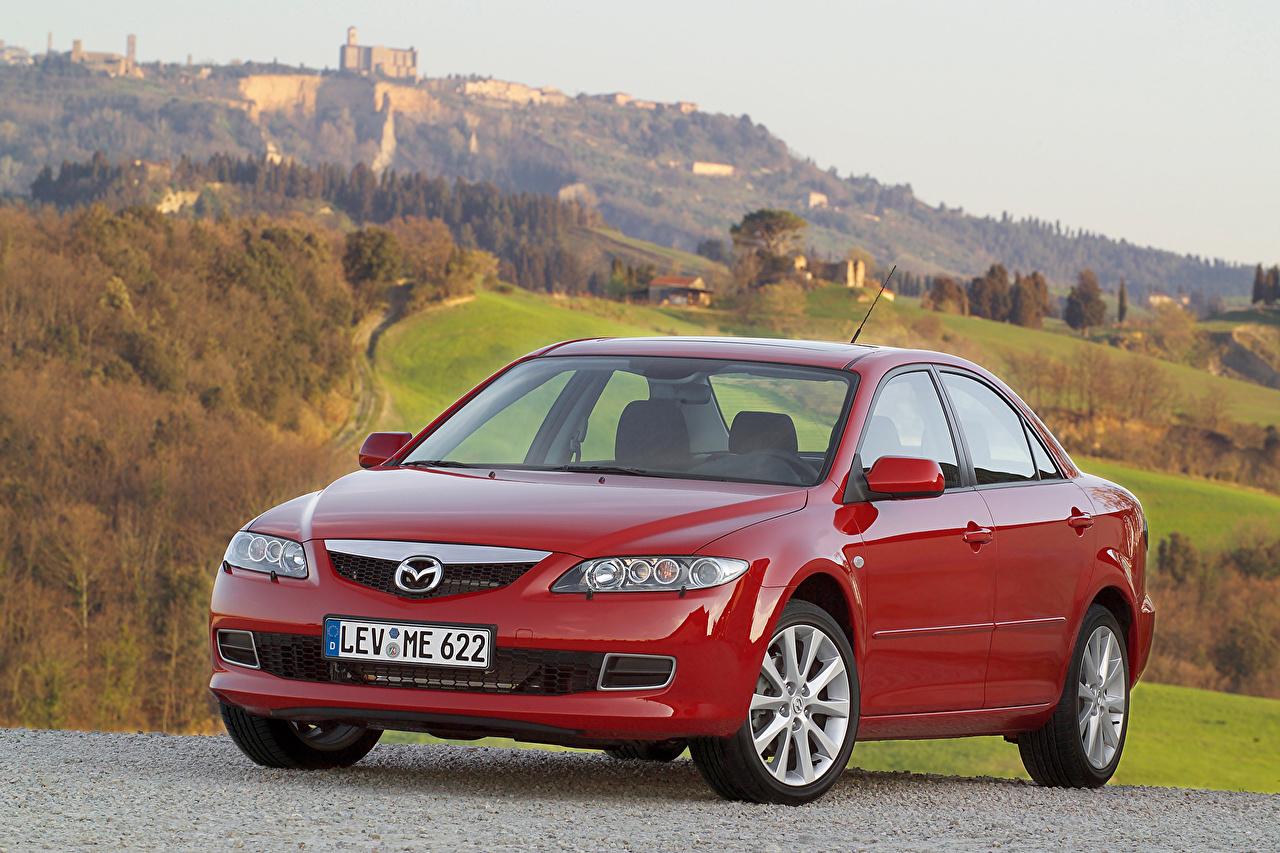 Mazda 2005-07 6 Sedan Rouge Métallique Berline voiture, automobile Voitures