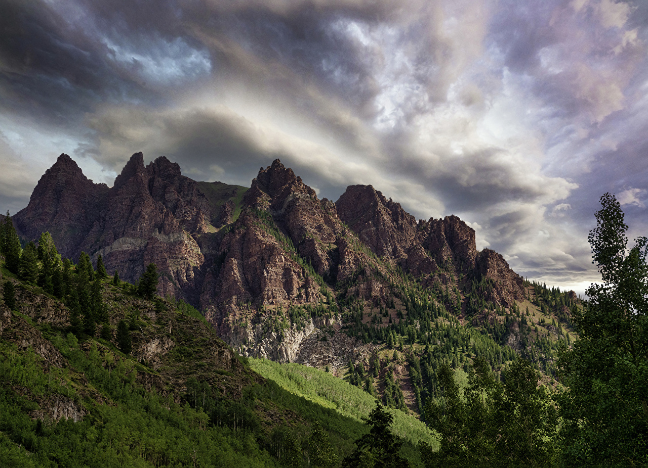 Wallpaper USA Sievers Mountain Colorado Nature Mountains Branches mountain