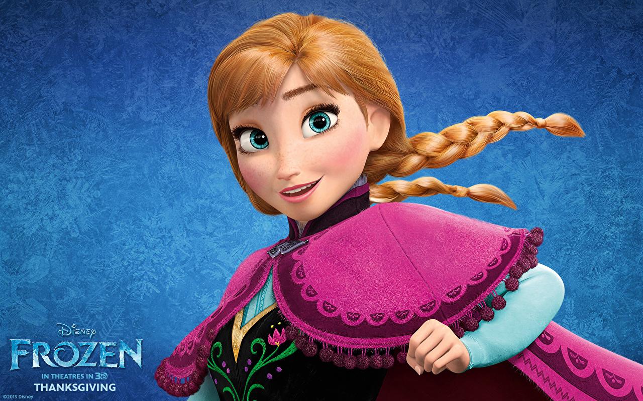 壁紙 ディズニー アナと雪の女王 赤毛少女 三つ編み 漫画 少女