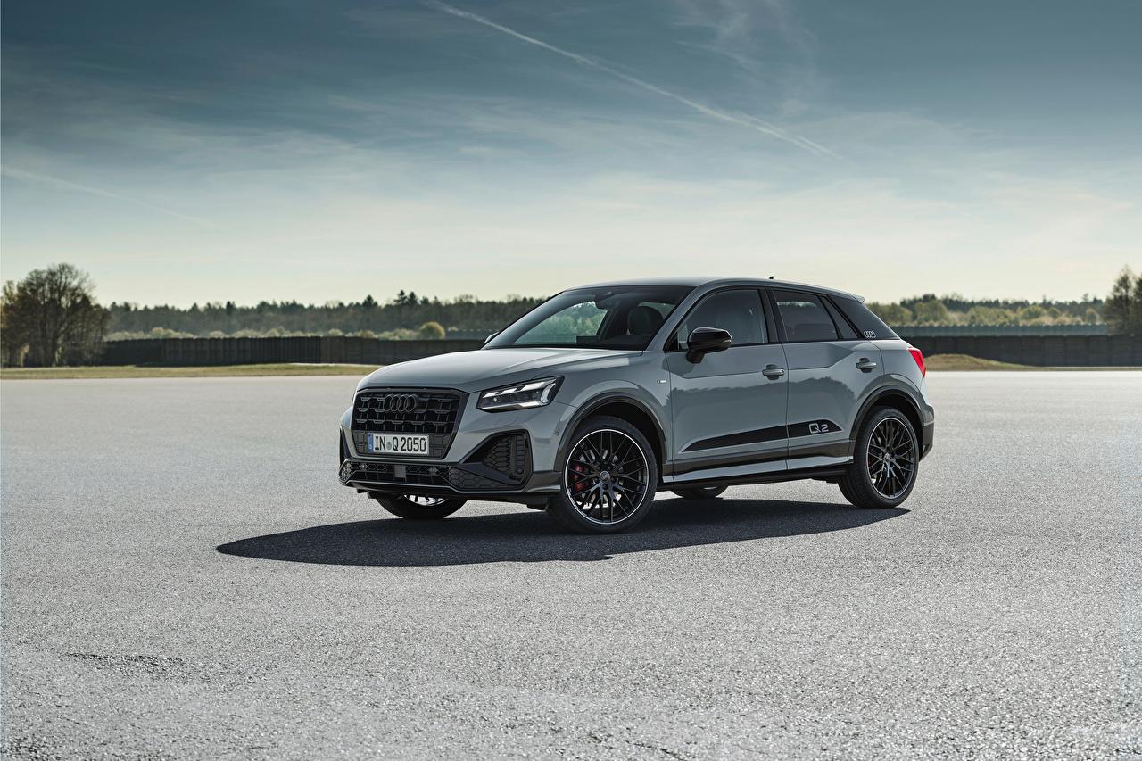 Fotos Audi Softroader Q2 35 TFSI S line, 2020 graue Autos Seitlich Metallisch Crossover Grau graues auto automobil