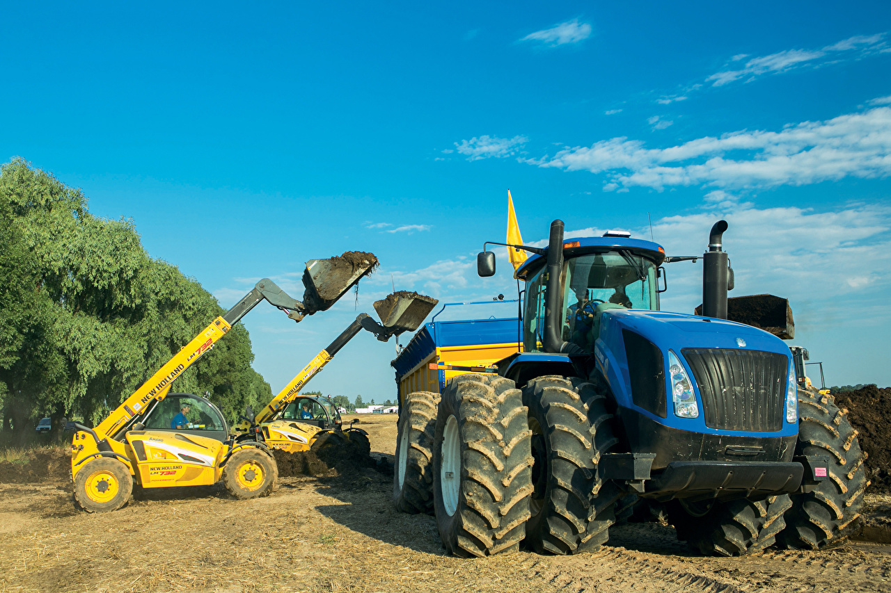 Desktop Wallpapers Agricultural machinery Tractor front-end loader New Holland LM732 New Holland T9.615 tractors Loader payloader front loader
