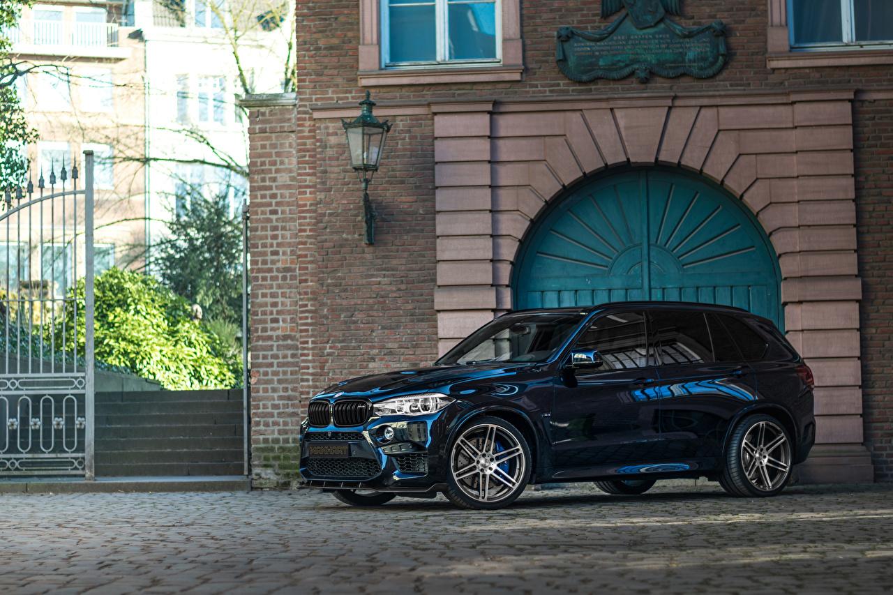 Bilder BMW Softroader 2015-20 Manhart MHX5 700 Blau auto Metallisch Crossover Autos automobil