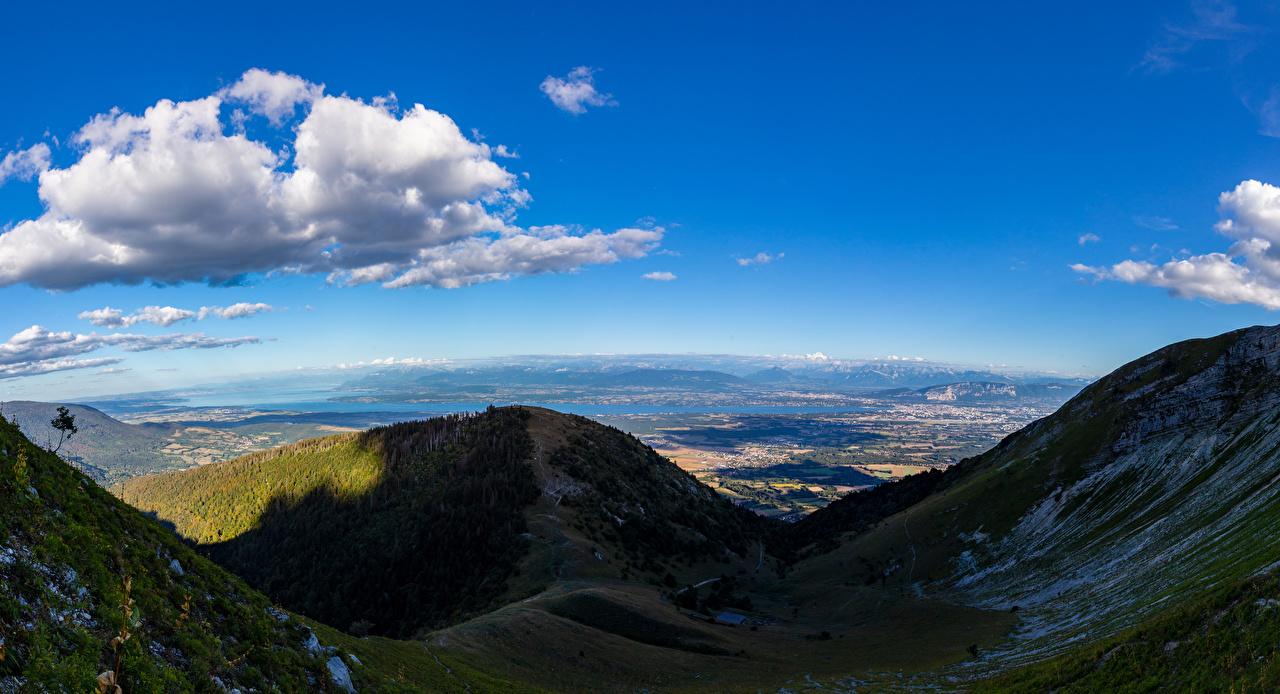 Foto Alpen Schatten Frankreich Echenevex Natur Gebirge Wolke Berg
