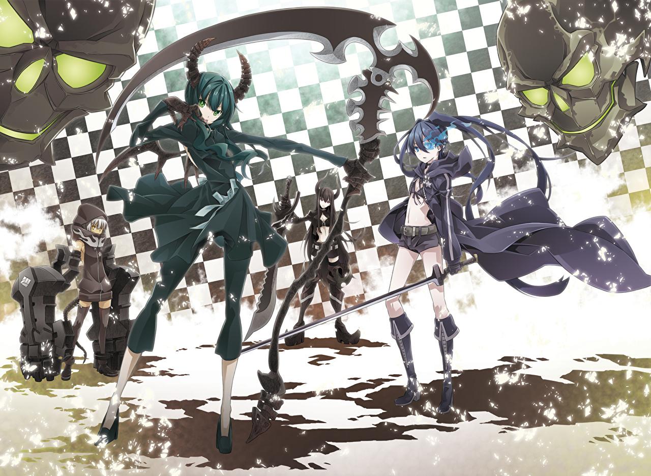 壁紙 ブラック ロックシューター アニメ 少女 ダウンロード 写真