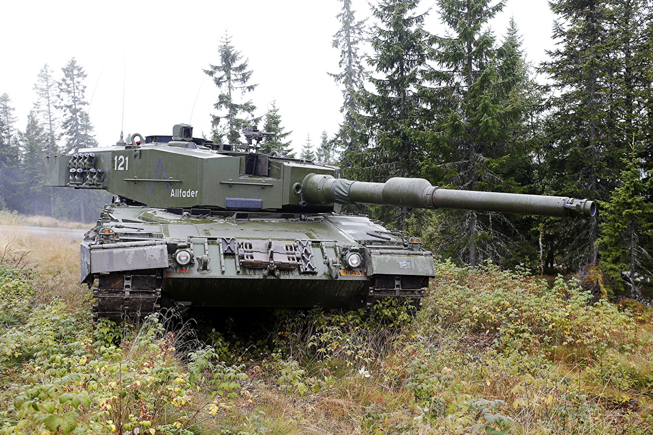 Image tank Norwegian Leopard 2 A4 Grass military Tanks Army