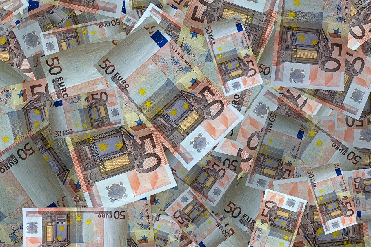 Fotos Euro Papiergeld Textur 50 Geld Nahaufnahme Banknoten Geldscheine hautnah Großansicht