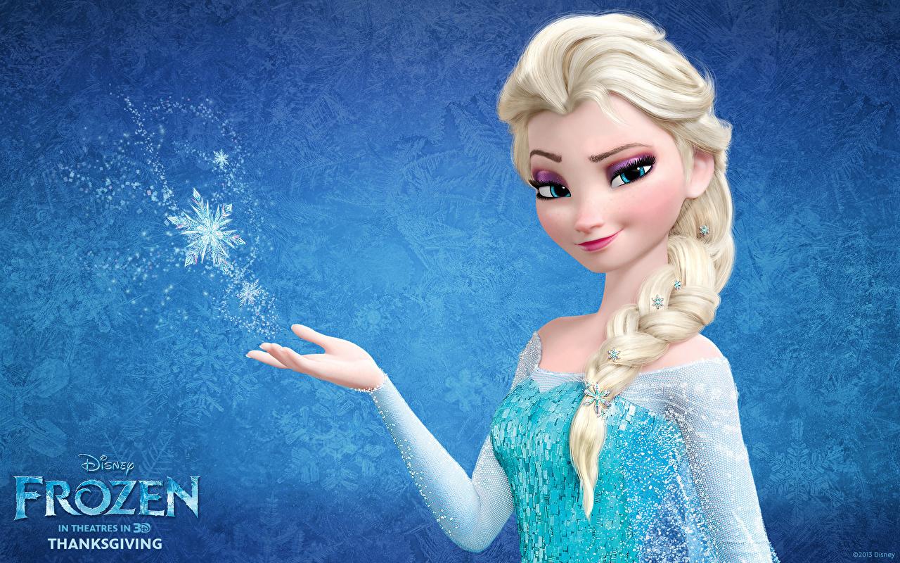 壁紙 ディズニー アナと雪の女王 三つ編み ブロンドの女の子 漫画 少女 ダウンロード 写真