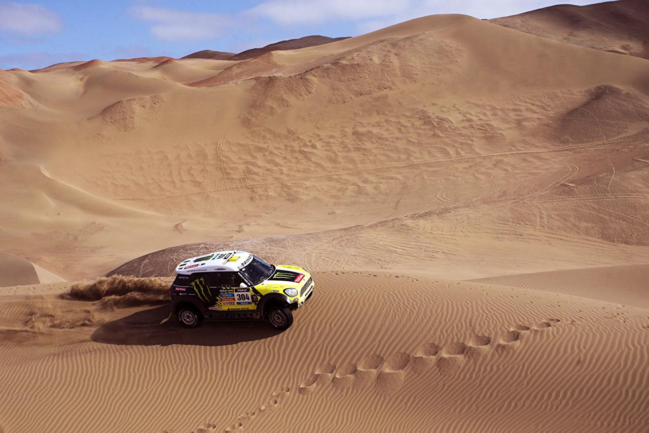 Bilder von Mini Cooper Dakar X-raid Wüste sportliches Autos Sport auto automobil