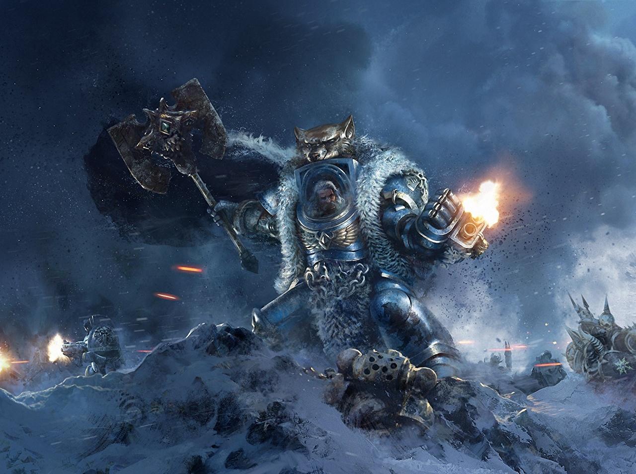 Wallpaper Warhammer 40000 Armor Warriors War Hammer Logan
