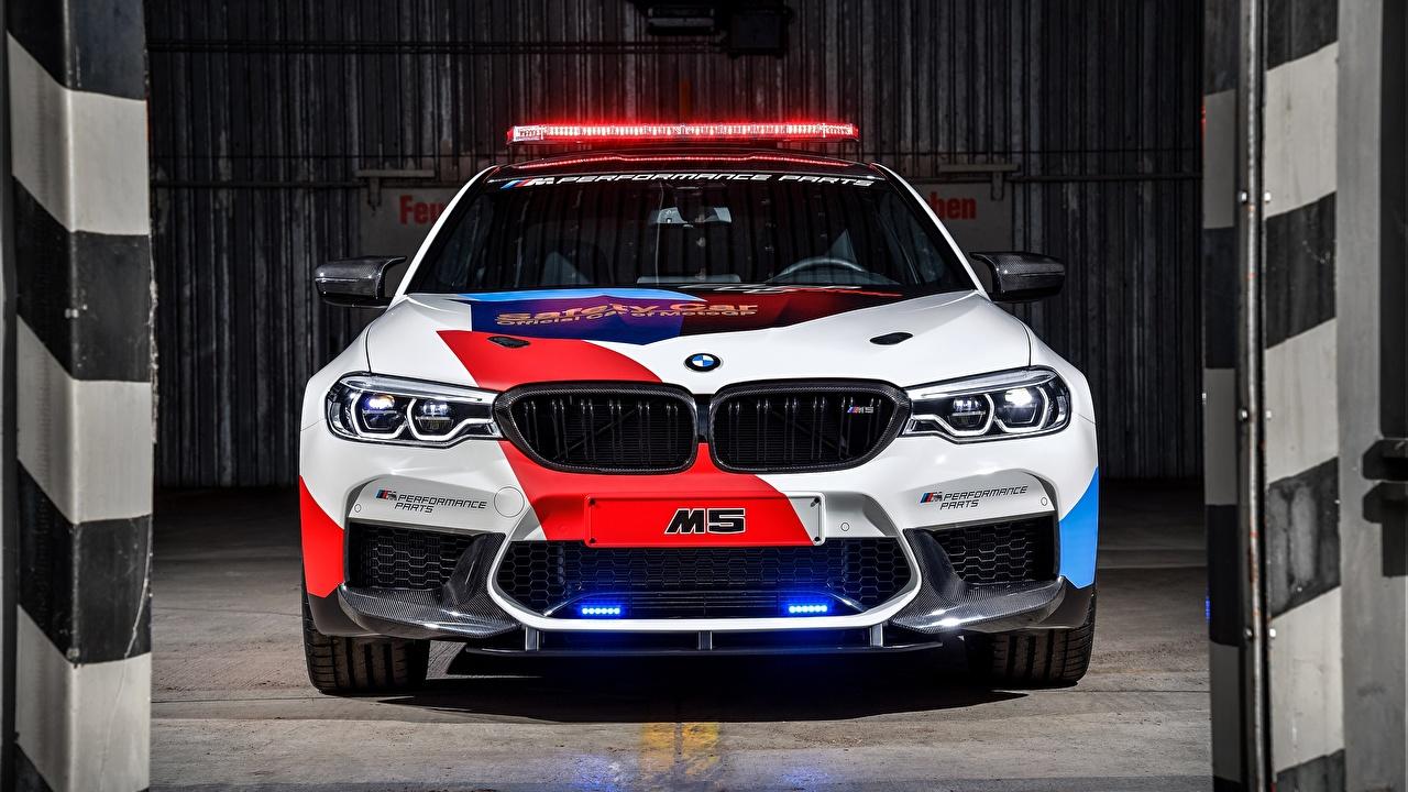 Wallpaper BMW Police M5 MotoGP, Safety Car Front automobile Cars auto