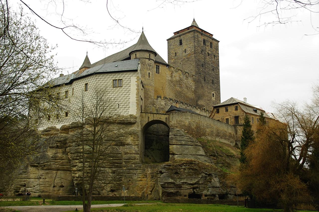 Desktop Wallpapers Czech Republic istrict Jicin, Czech Paradise nature reserve, Kost Castle Castles Cities castle
