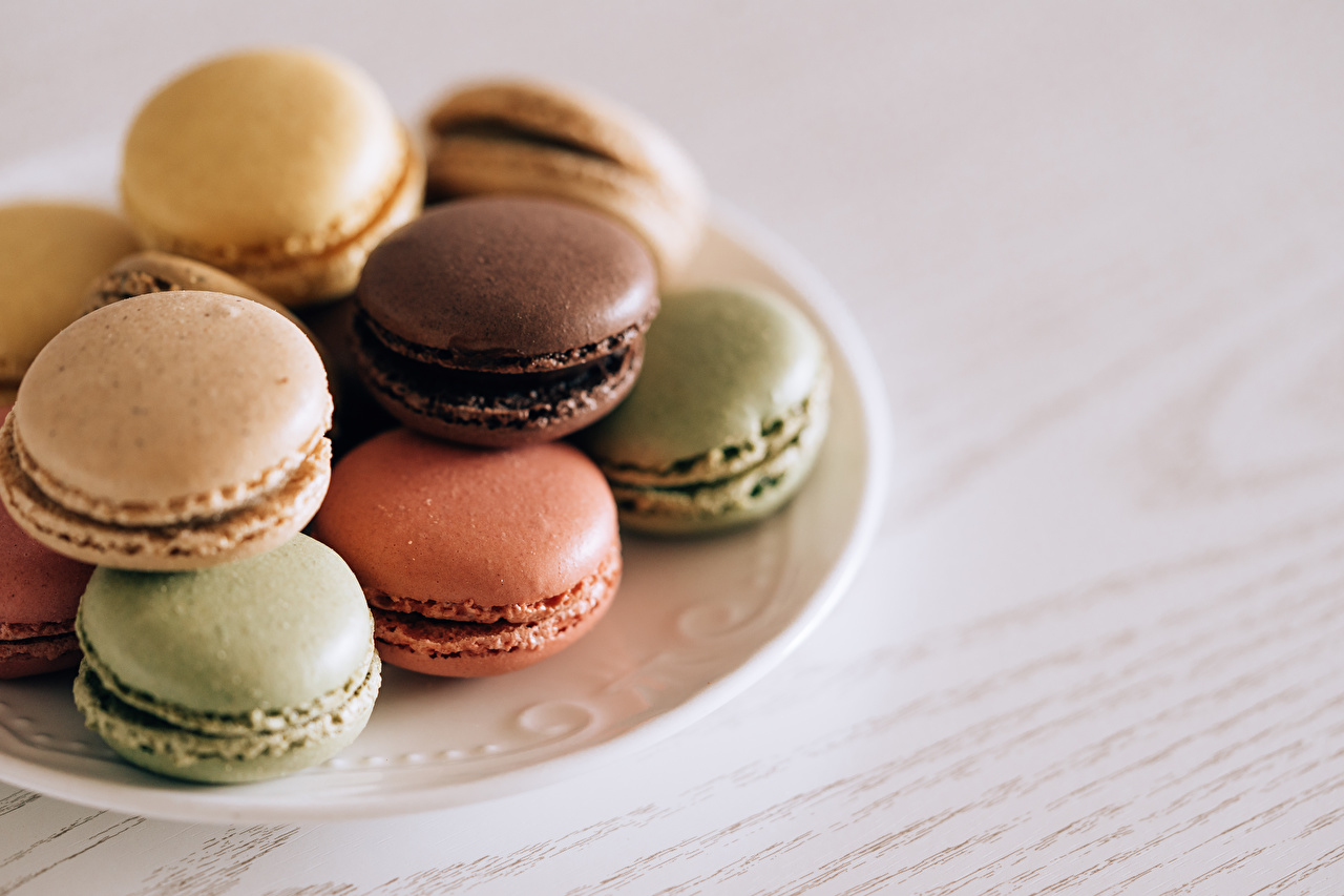 Images Macaron Multicolor Food Plate french macarons