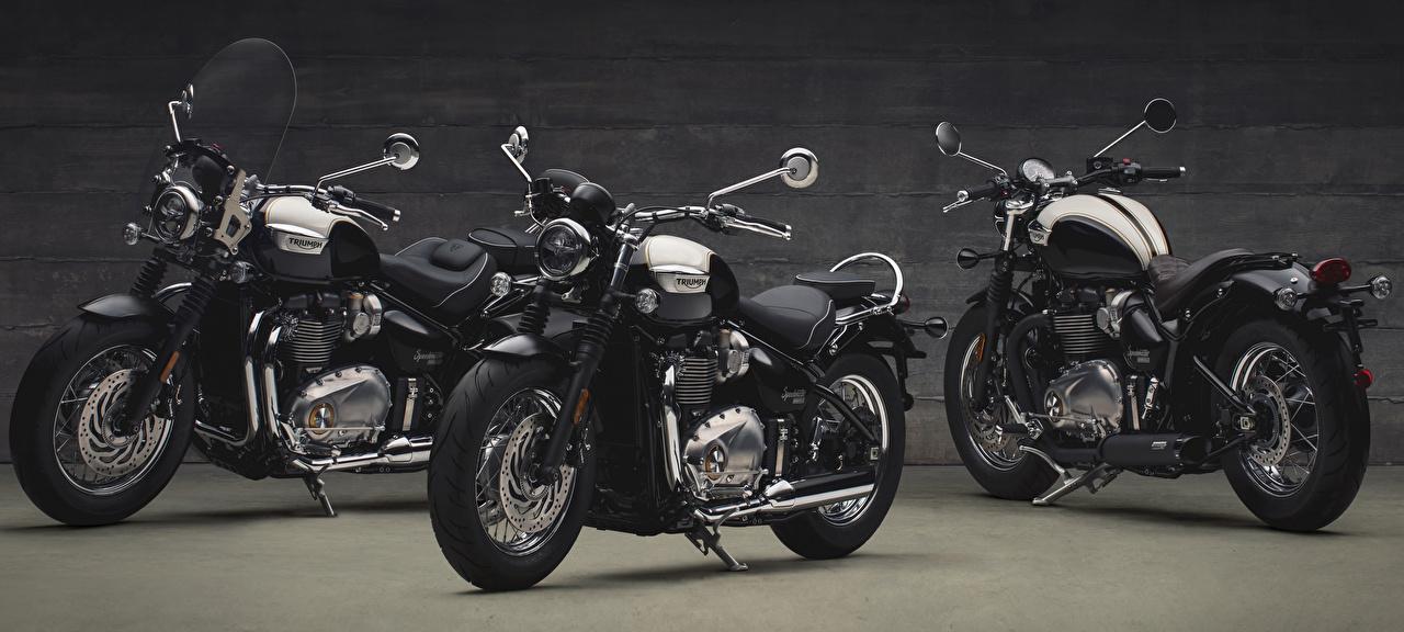 Bilder von Triumph Motorcycles Ltd. 2017 Bonneville Speedmaster Schwarz Motorrad Drei 3 Triumph