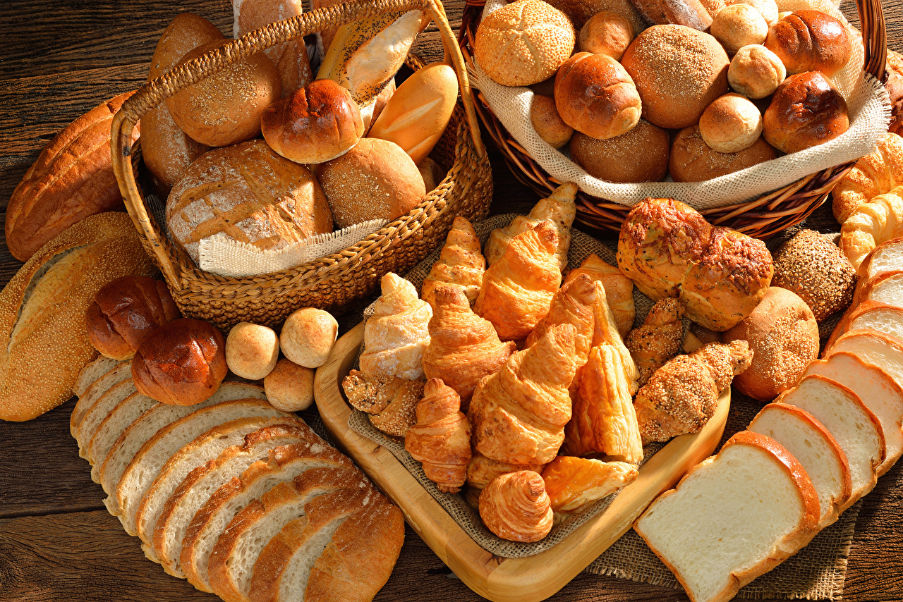Pictures Croissant Buns Bread Food Pastry Baking