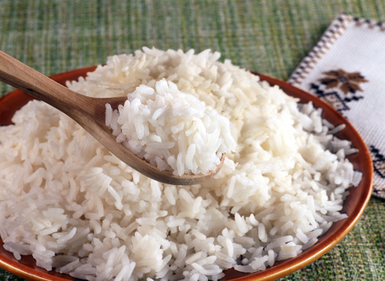 Photo Rice Food Spoon Plate Closeup