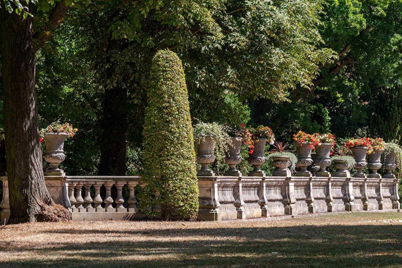 Fotos von Potsdam Deutschland Park Sanssouci Natur Zaun Parks Strauch Design
